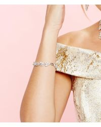 kate spade new york | Metallic Silver-tone Marquise And Round Crystal Bracelet | Lyst