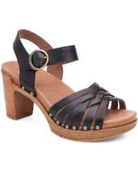 Dansko | Black Dawson Sandals | Lyst