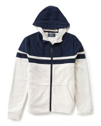 Original Penguin | Blue Backford Color Block Full-zip Hoodie for Men | Lyst