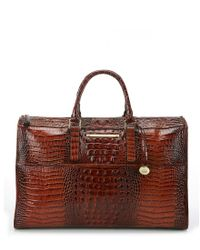 Brahmin | Brown Melbourne Collection Anywhere Traveler Bag | Lyst