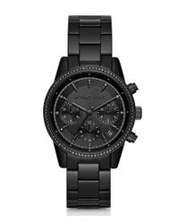 Michael Kors   Black Ritz Chronograph Bracelet Watch for Men   Lyst