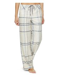 DKNY | Multicolor Plaid Fleece Sleep Pants | Lyst
