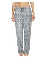 DKNY | Gray Dotted Fleece Sleep Pants | Lyst