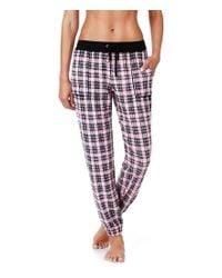 Kensie | Pink Plaid Jogger Pajama Pants | Lyst