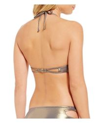 Bikini Lab - Multicolor Hot-shine Bling Underwire Push-up Bra - Lyst