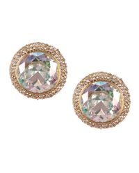 kate spade new york | Metallic Absolute Sparkle Round Stud Earrings | Lyst