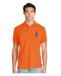 Polo Ralph Lauren | Orange Classic-fit Big Pony Short-sleeve Solid Polo Shirt for Men | Lyst