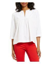 Levi's   White Levi ́s® Good Eloise Split V-neck Long Sleeve Top   Lyst