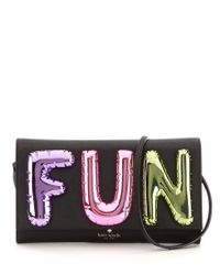 kate spade new york | Black Whimsies Fun Balloon Saffiano Leather Clutch | Lyst