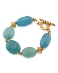 Lauren by Ralph Lauren | Blue Paradise Found Turquoise Stone Line Bracelet | Lyst