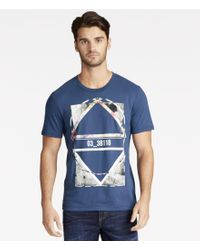 William Rast | Blue Crewneck Graphic Tee for Men | Lyst