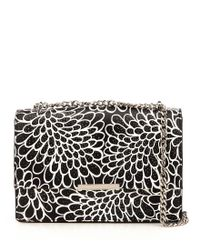 Ivanka Trump | Black Mara Dahlia-print Cocktail Bag | Lyst