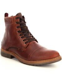 Steve Madden | Brown Men ́s Sargge Lace Up Boots for Men | Lyst