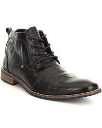 Steve Madden | Black Men ́s Kramerr Leather Boots for Men | Lyst