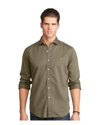 Polo Ralph Lauren | Green Big & Tall Twill Estate Long-sleeve Woven Shirt for Men | Lyst