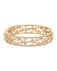 Nadri | Metallic Cubic Zirconia Vine Bangle Bracelet | Lyst
