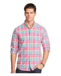 Polo Ralph Lauren | Red Big & Tall Plaid Oxford Shirt for Men | Lyst