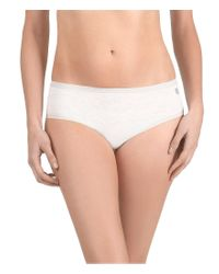 Natori | Gray Yogi Girl Brief Panty | Lyst