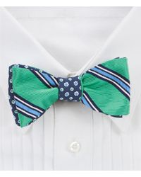 Brooks Brothers   Blue Reversible Stripe And Floral Bow Tie for Men   Lyst