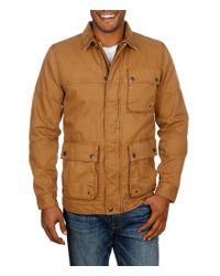 Lucky Brand | Brown Barn Corduroy Collar Full-zip Jacket for Men | Lyst