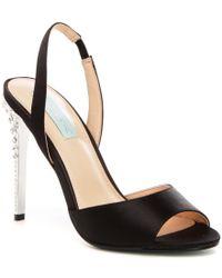 Betsey Johnson   Black Blue By Naomi Slingback Dress Sandals   Lyst