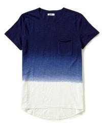 William Rast | Blue Jim Short-sleeve Elongated Dip Dye Tee for Men | Lyst
