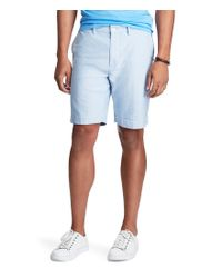 Polo Ralph Lauren | Blue Classic-fit Flat-front Newport Oxford Shorts for Men | Lyst