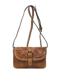 Patricia Nash   Metallic Burnished Tooled Collection Torri Cross-body Bag   Lyst