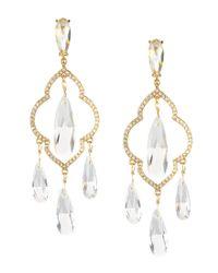 kate spade new york | Metallic Lantern Gems Chandelier Earrings | Lyst