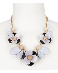 kate spade new york | Metallic Pick A Posy Rose Quartz Collar Necklace | Lyst