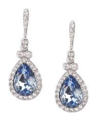 Givenchy | Blue Faux-sapphire Pavé Pear Drop Earrings | Lyst