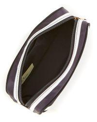 kate spade new york - Black Classic Nylon Berrie Striped Cosmetic Case - Lyst