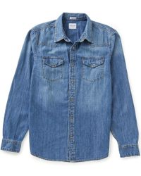 Guess | Blue Western Slim-fit Denim Shirt for Men | Lyst