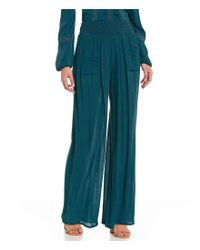 Band Of Gypsies   Blue Soft Wide Leg Pant   Lyst