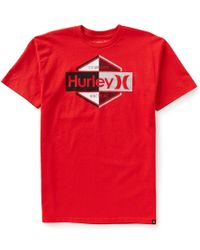 Hurley | Red Emblem Short-sleeve Graphic Tee for Men | Lyst