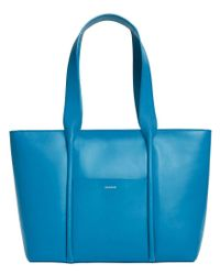 Skagen   Blue Lisabet Leather Tote   Lyst