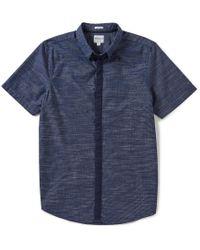 Guess | Blue Short-sleeve Venice Slub Shirt for Men | Lyst