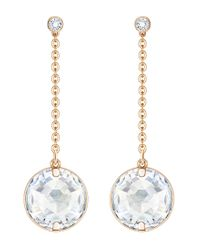 Swarovski   Metallic Globe Linear Drop Earrings   Lyst