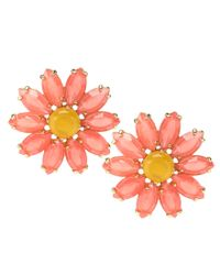 kate spade new york - Multicolor Brilliant Bouquet Statement Stud Earrings - Lyst