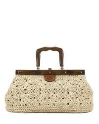 Patricia Nash - Natural Carmen Straw Crochet & Wood Satchel - Lyst
