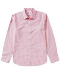 Calvin Klein   Pink Infinite Cool Mini-check Long-sleeve Woven Shirt for Men   Lyst