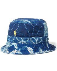 Polo Ralph Lauren - Blue Shibori Reversible Bucket Hat - Lyst