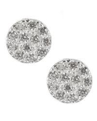 Argento Vivo | Metallic Pavé Stud Earrings | Lyst