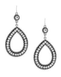 Jessica Simpson | Metallic Open Teardrop Earrings | Lyst