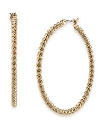 Lauren by Ralph Lauren | Metallic Perfect Pieces Twisted Hoop Earrings | Lyst