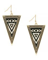 Jessica Simpson - Metallic Home Grown Triangle Drop Earrings - Lyst