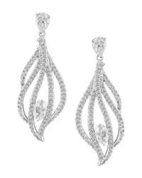 Nadri - Metallic Heather Pavé Drop Earrings - Lyst