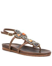 Kenneth Cole Reaction - Brown Chase Me Flat Sandals - Lyst