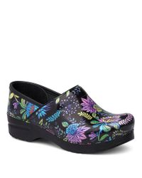 Dansko | Blue Professional Wildflower Print Clogs | Lyst