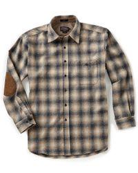 Pendleton - Blue Trail Plaid Ombre Long-sleeve Woven Shirt for Men - Lyst